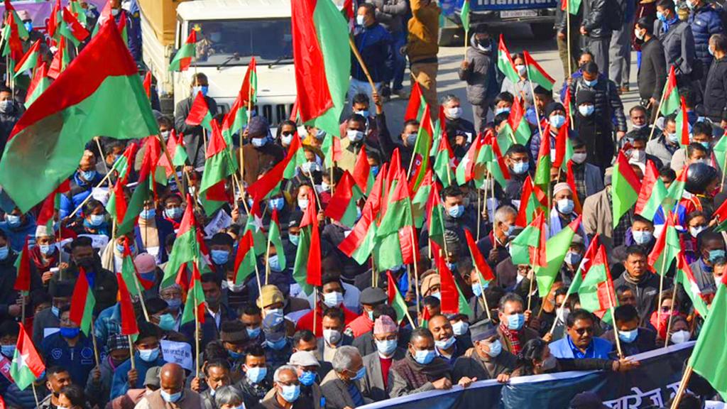 केपी ओलीको प्रतिगामी कदमविरुद्ध जनता समाजवादी पार्टीको शक्ति प्रदर्शन