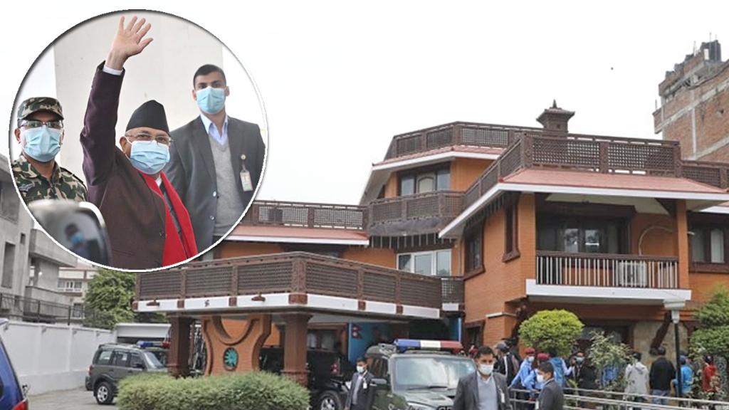 'ओलीको अफिस'मा पाइला राखेनन् माधव नेपाल पक्षका नेताहरूले, को–को पुगे नयाँ एमाले मुख्यालय?