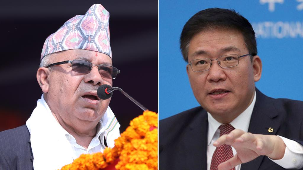 नेकपा अध्यक्ष माधवकुमार नेपाल र उपमन्त्री उपमन्त्री येचौबीच भेटवार्ता