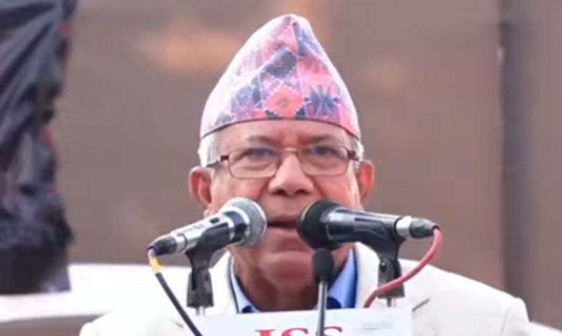 केपी ओलीले राम्ररी पार्टी चलाउन नसकेका कारण समस्या निम्तिएको हो : माधवकुमार नेपाल