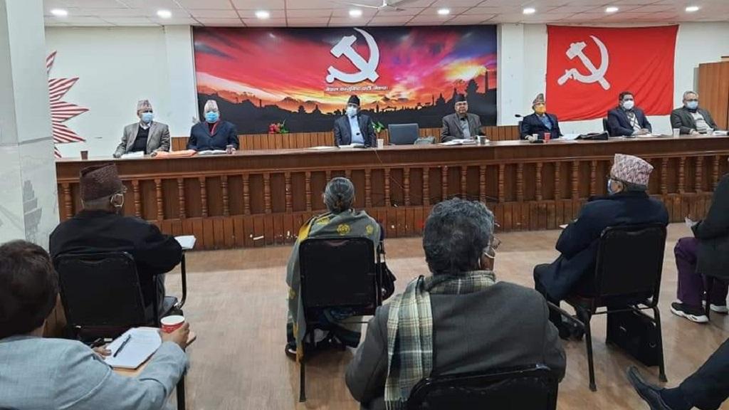 प्रचण्ड पक्षीय स्थायी कमिटी बैठक: ओलीलाई हटाइयाे, अध्यक्षकाे जिम्मा माधवकुमार नेपाललाई