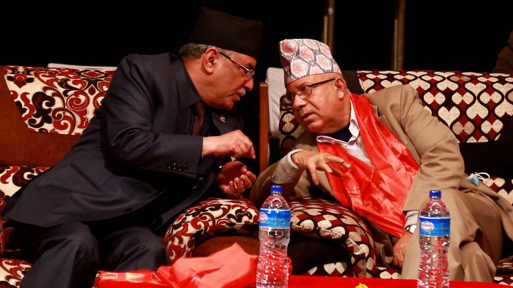 एमालेका वरिष्ठ नेताद्वय खनाल, नेपाल र माओवादी केन्द्रका अध्यक्ष प्रचण्ड छलफलमा