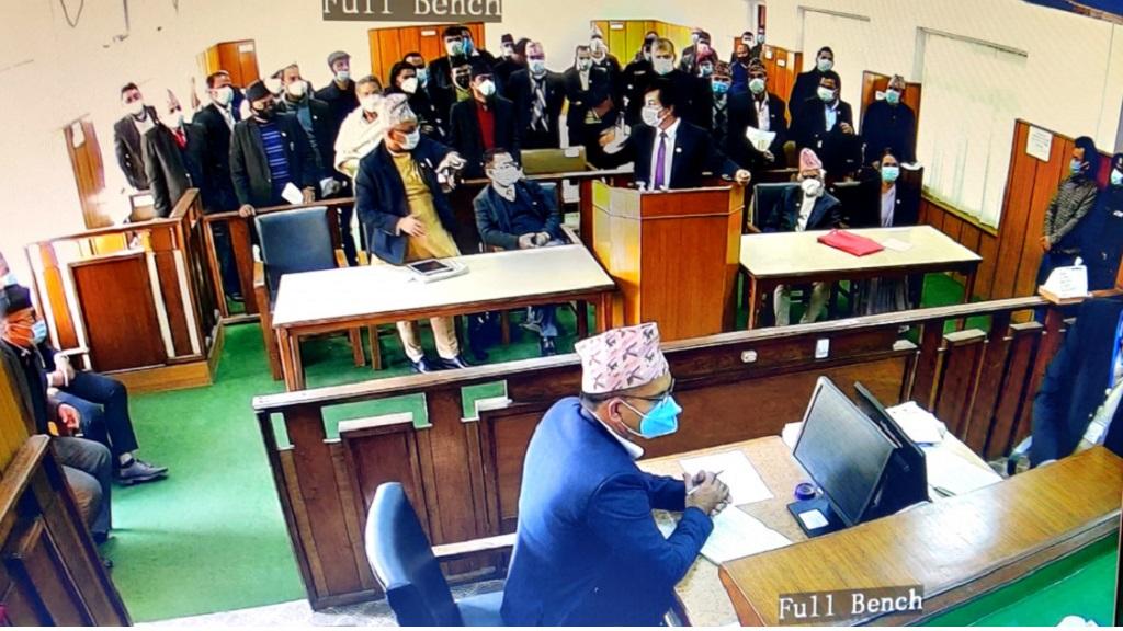 संसद् विघटनविरुद्धका रिटमाथि संवैधानिक इजलासमा पुनः सुनुवाइ शुरु