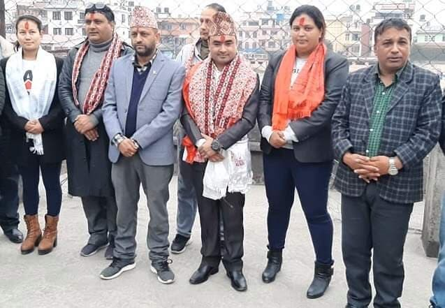 काठमाडौं जिल्ला खेलकुद विकास समितिका पदाधिकारीद्वारा पदभार ग्रहण