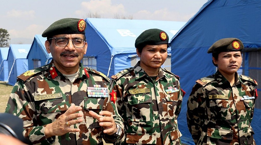 कोरोनाविरुद्ध लड्न नेपाली सेनाले गर्याे आन्तरिक तयारी