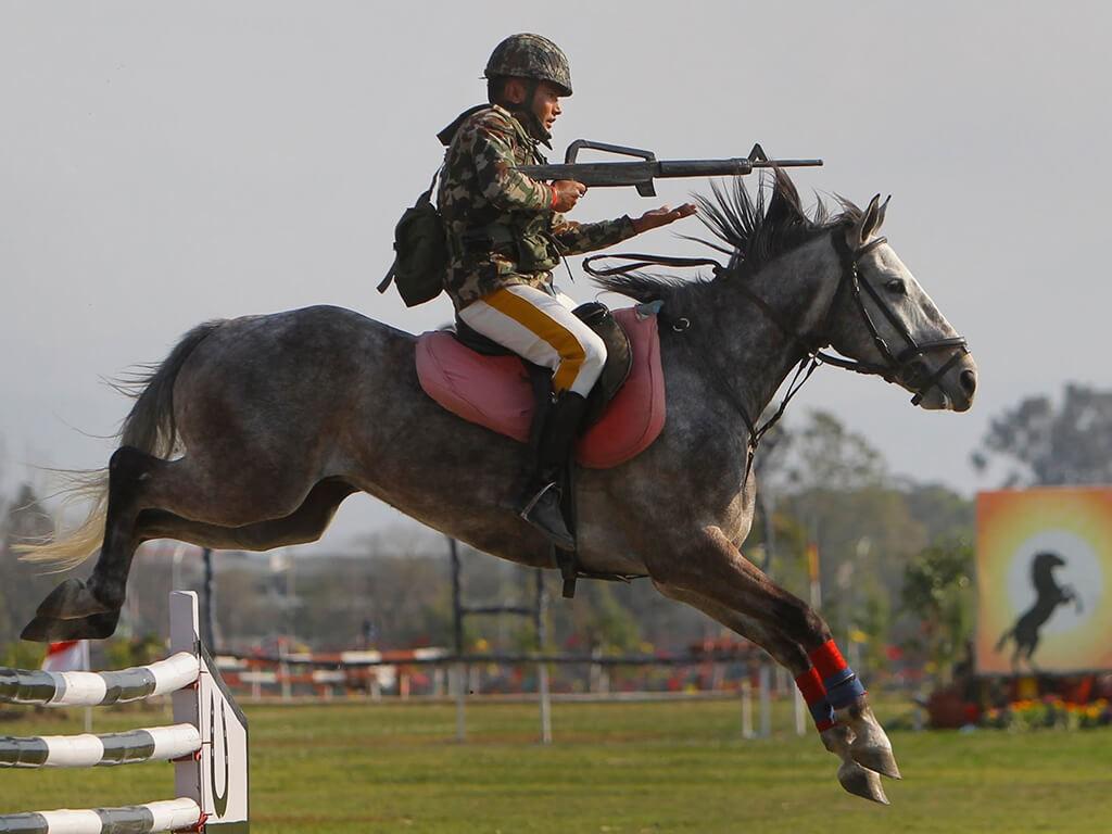नेपाली सेनाले गर्यो घोडेजात्रा सामारोह स्थगित
