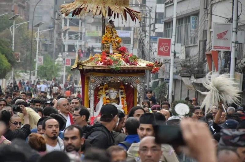 रथयात्रा रोकिएपछि सेतो मच्छेन्द्रनाथ र चामुण्डा मन्दिरमा क्षमा पूजा