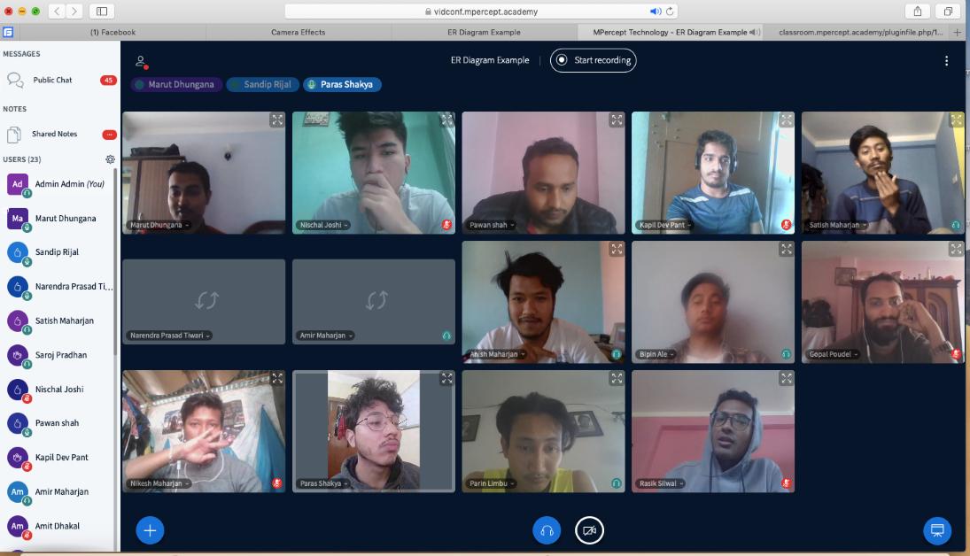 लकडाउनमा अनलाइन कक्षा, वेदासले शुरु गर्याे आफ्नै सफ्टवेयरबाट पठनपाठन