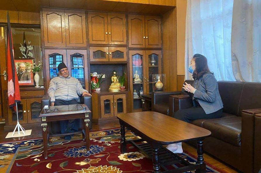 नेकपाका शीर्ष नेताहरूसँग चिनियाँ राजदूतको भेटघाट