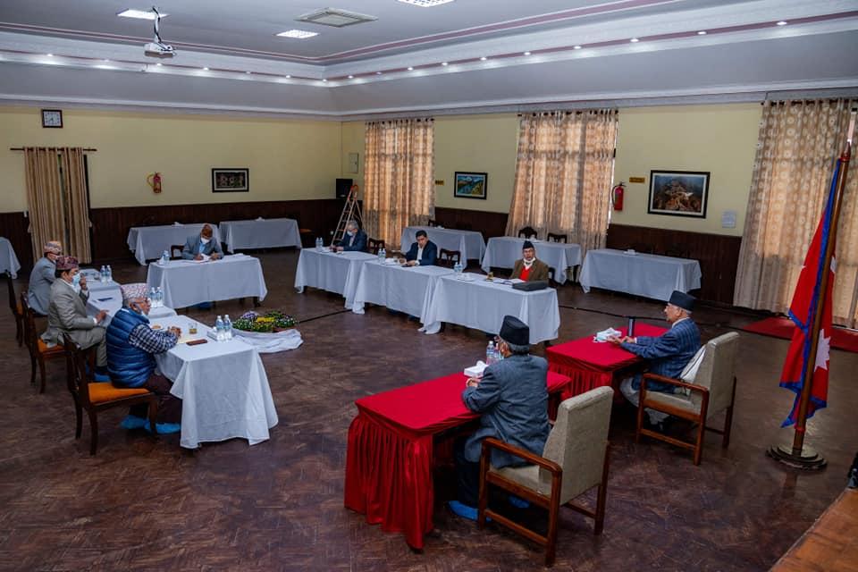 नेकपा सचिवालय बैठकमा सरकारकाे नीति तथा कार्यक्रमबारे छलफल
